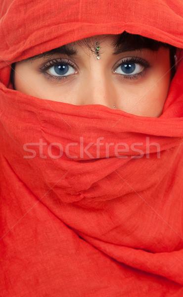женщину вуаль портрет студию Сток-фото © zittto