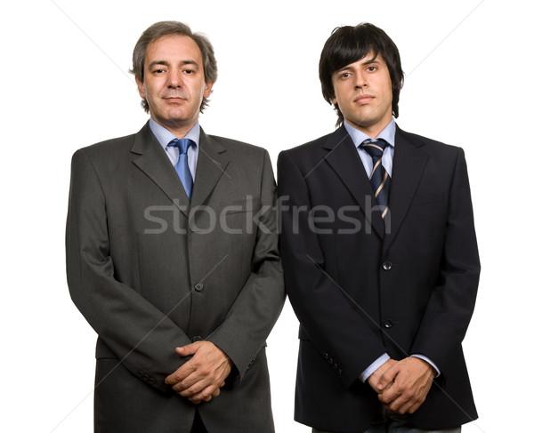 деловых людей два молодые портрет изолированный белый Сток-фото © zittto