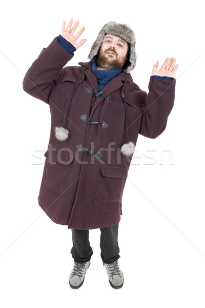 Aptal adam genç gündelik yalıtılmış Stok fotoğraf © zittto