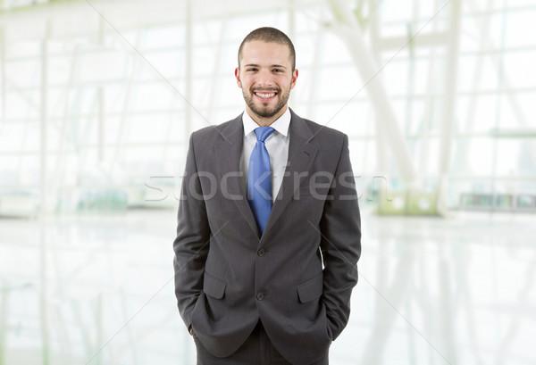 Iş adamı genç portre ofis iş yüz Stok fotoğraf © zittto