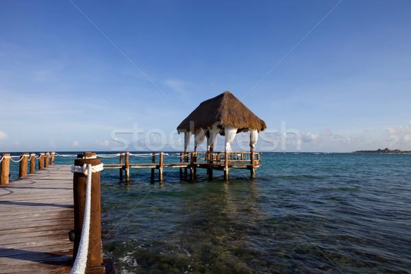 Doca caribbean mar península México Foto stock © zittto