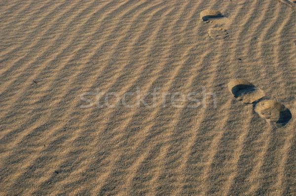 Areia pegadas homem natureza saúde viajar Foto stock © zittto