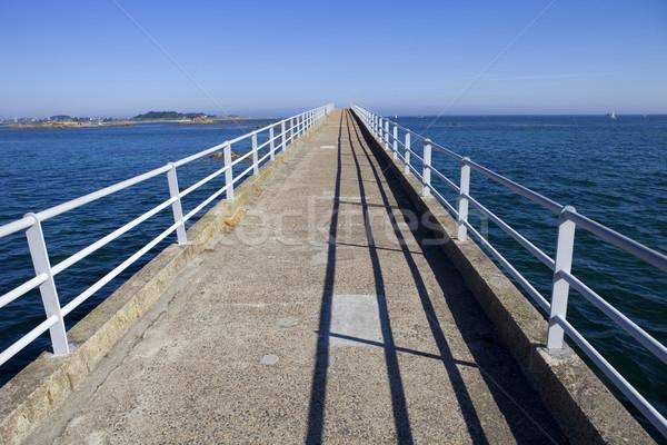 Híd híres sehol észak Franciaország víz Stock fotó © zittto