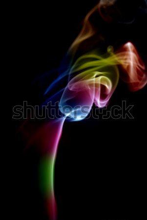 Rook abstract gekleurd zwarte achtergrond Rood Stockfoto © zittto