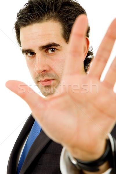 Stoppen zakenman focus hoofd business Stockfoto © zittto