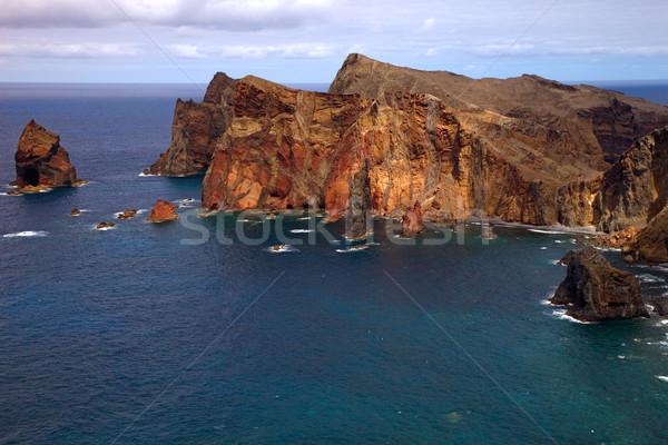 Madeira ada Portekiz gökyüzü doğa dağ Stok fotoğraf © zittto