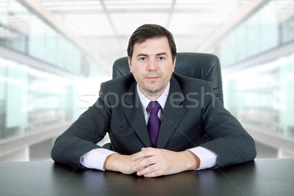 ビジネスマン 小さな デスク オフィス ビジネス セクシー ストックフォト © zittto