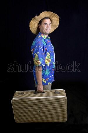 путешественник молодые глупый человека черный Сток-фото © zittto