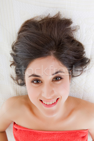 Spa-behandeling mooie jonge vrouw schoonheid spa vrouwelijke Stockfoto © zittto