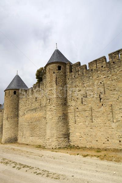 Anciens fortification sud France bâtiment sécurité Photo stock © zittto