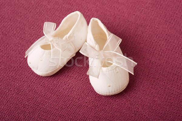 Baby różowy dziewczyna dzieci grupy buty Zdjęcia stock © zittto