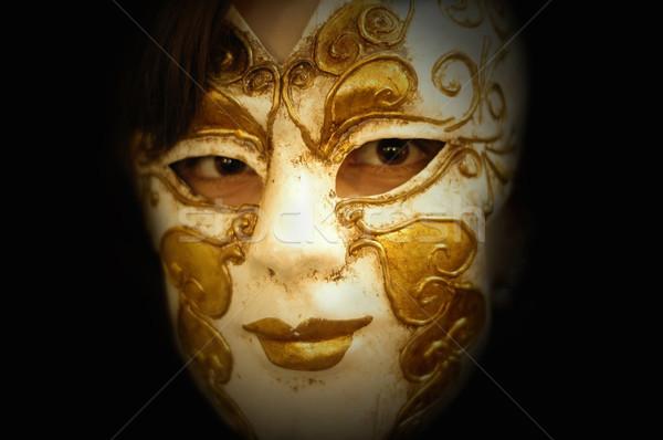 Maske kadın kız yüz moda güzellik Stok fotoğraf © zittto