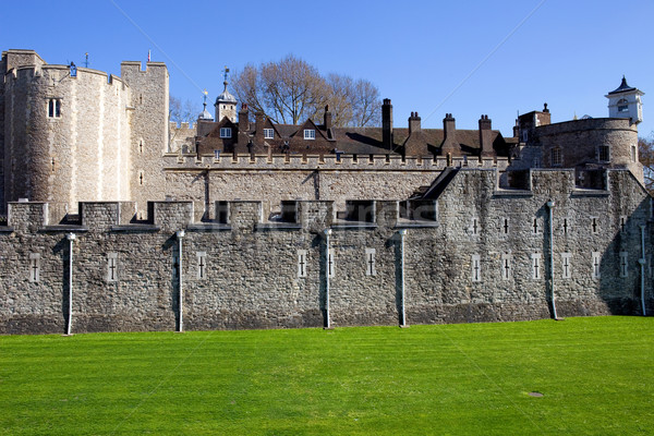 Torre Londra medievale castello carcere nubi Foto d'archivio © zittto