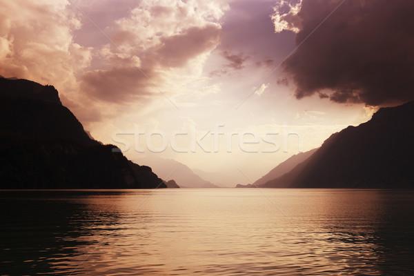 brienz lake Stock photo © zittto