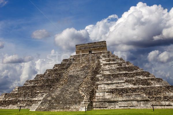 Чичен-Ица древних пирамида храма небе здании Сток-фото © zittto