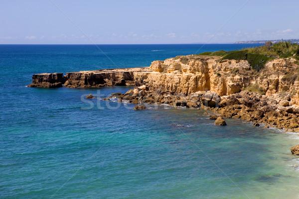 Sahil güney Portekiz güneş manzara deniz Stok fotoğraf © zittto