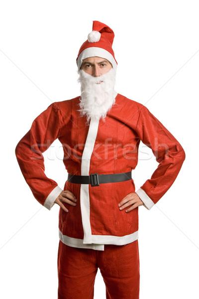 Stock photo: silly santa