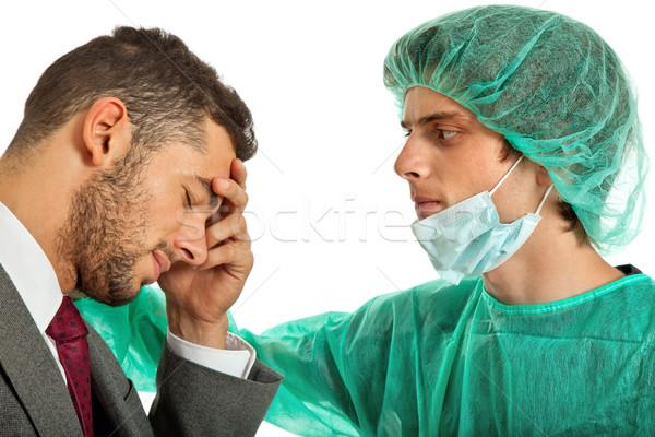 Kötü haber tıbbi doktor ofis arka plan erkekler Stok fotoğraf © zittto