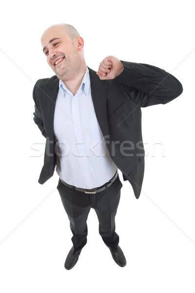Casual homem jovem branco sorrir Foto stock © zittto