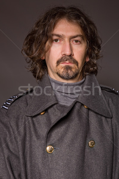 Militar joven ruso estudio Foto rojo Foto stock © zittto