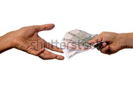 Dinheiro pessoa outro pormenor mão homem Foto stock © zittto