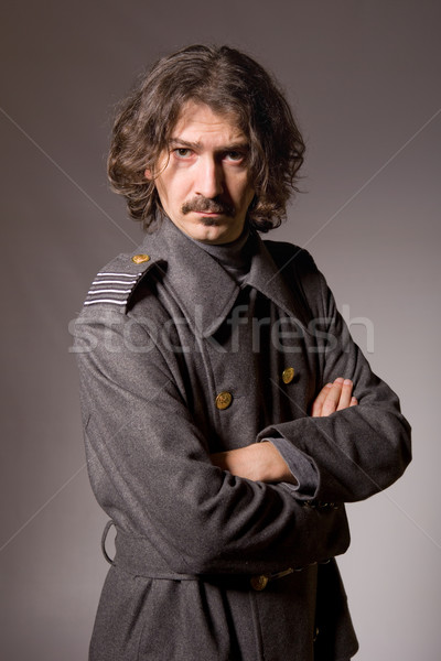 Ruso militar joven estudio Foto retrato Foto stock © zittto