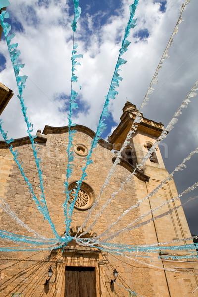 Kilise detay ada İspanya parti Stok fotoğraf © zittto