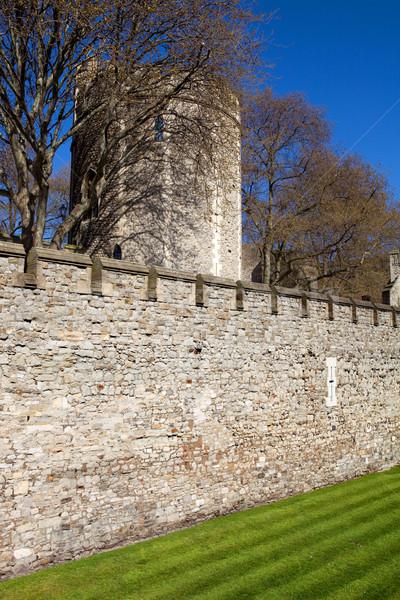 Kule Londra ortaçağ kale hapis bulutlar Stok fotoğraf © zittto