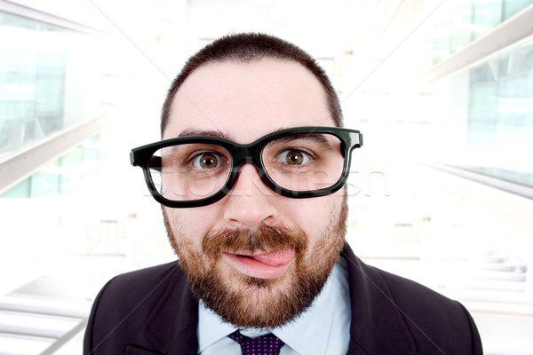 Dom jonge zakenman portret kantoor glimlach Stockfoto © zittto