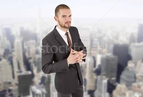 Homme d'affaires jeunes portrait bureau visage affaires Photo stock © zittto