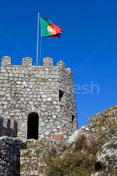 Castelo aldeia céu edifício construção parede Foto stock © zittto