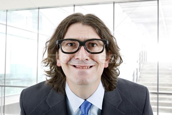 Dom man jonge zakenman portret kantoor Stockfoto © zittto