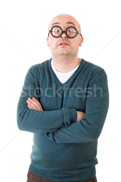 Geek человека изолированный белый моде портрет Сток-фото © zittto