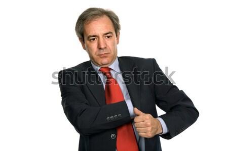 Maduro homem de negócios retrato branco negócio trabalhar Foto stock © zittto