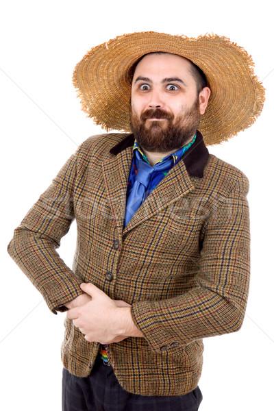 Dom toevallig man jonge portret geïsoleerd Stockfoto © zittto
