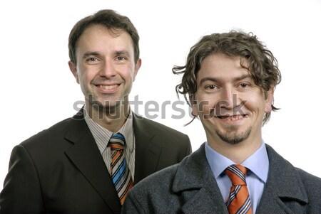 Stupido due giovani uomini d'affari ritratto bianco Foto d'archivio © zittto