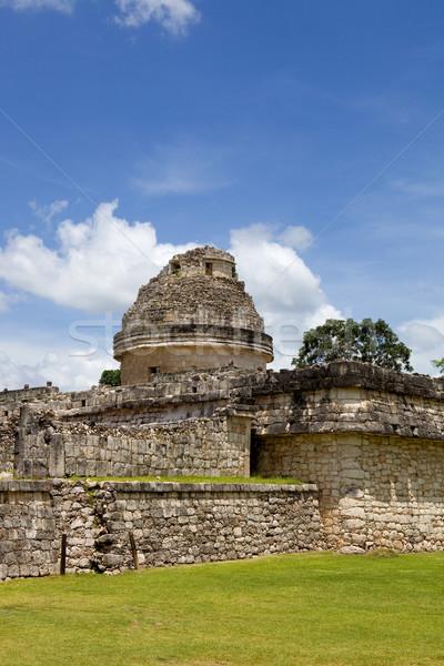 Чичен-Ица древних храма небе здании путешествия Сток-фото © zittto