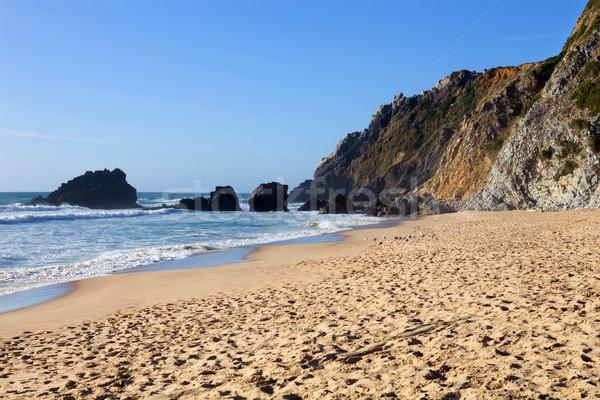 Hermosa playa sur Portugal cielo sol Foto stock © zittto