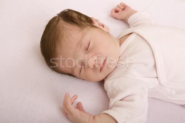 Genç bebek uyku stüdyo resim kız Stok fotoğraf © zittto