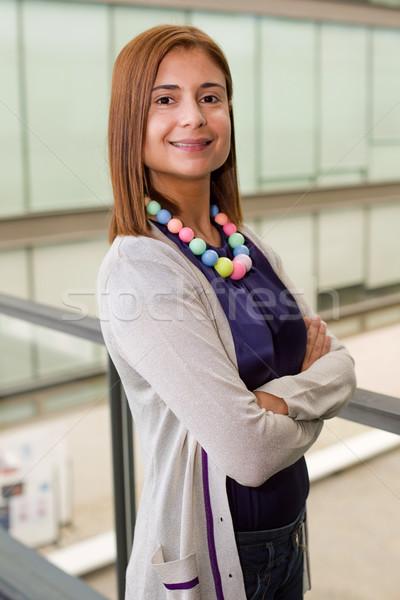 Işkadını genç mutlu iş kadını ofis iş Stok fotoğraf © zittto