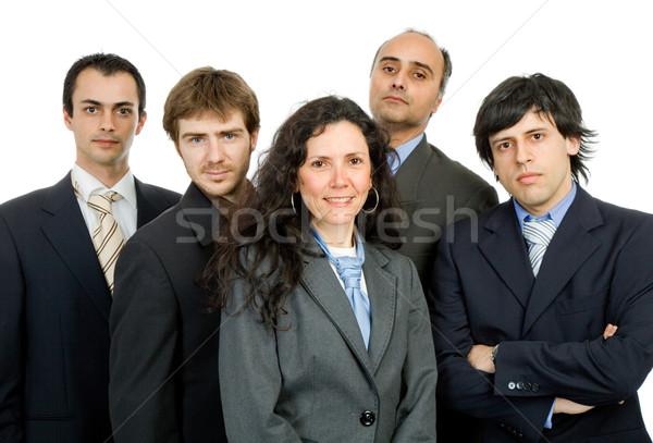 Zdjęcia stock: Zespół · firmy · odizolowany · biały · skupić · kobieta · działalności