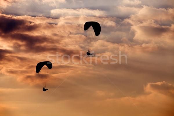 Siklórepülés liga észak Portugália felhők űr Stock fotó © zittto