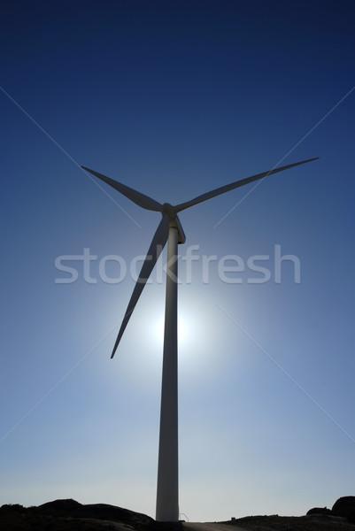 タービン 白 風力タービン 先頭 山 自然 ストックフォト © zittto