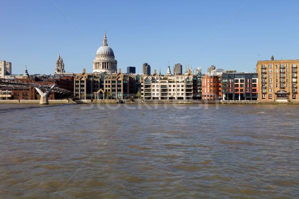 Temze London kilátás folyó befejezés nap Stock fotó © zittto