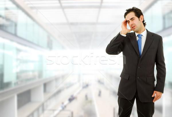 Fejfájás üzletember gesztusok iroda üzlet kéz Stock fotó © zittto