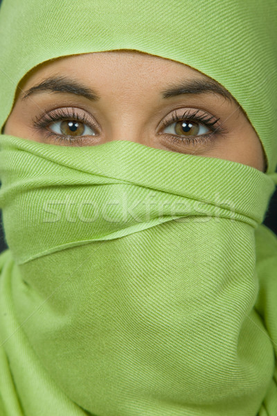 Mujer velo retrato estudio Foto stock © zittto
