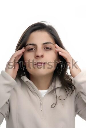 головная боль молодые случайный девушки моде Сток-фото © zittto
