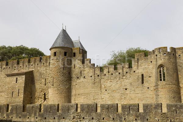 Antigua fortificación meridional Francia edificio seguridad Foto stock © zittto