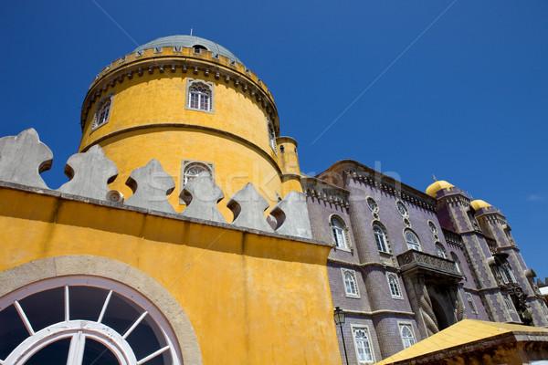 Detail paleis dorp Lissabon Portugal gebouw Stockfoto © zittto