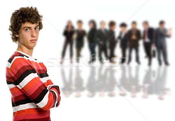 Insanlar genç grup insanlar yalıtılmış gülümseme seksi Stok fotoğraf © zittto